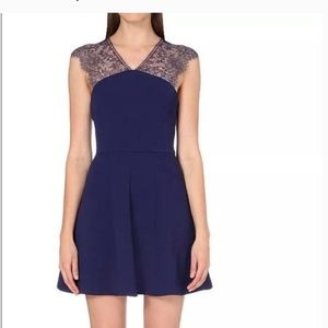 The Kooples large lace navy blue dress never worn